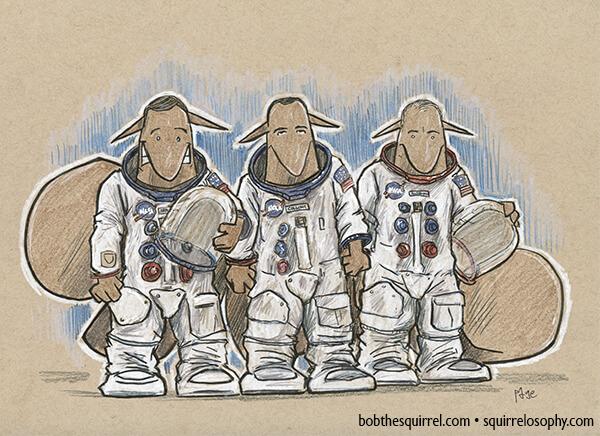 Apollo 11 crew - Neil Armstrong, Michael Collins and Buzz Aldrin