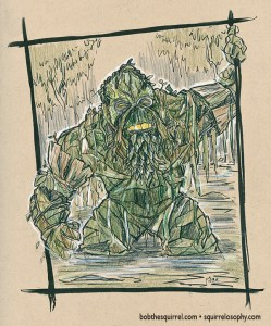 Frank as The Swamp Thing