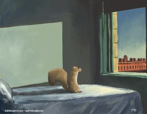 Edward Hopper, Morning Light with Bob the Squirrel