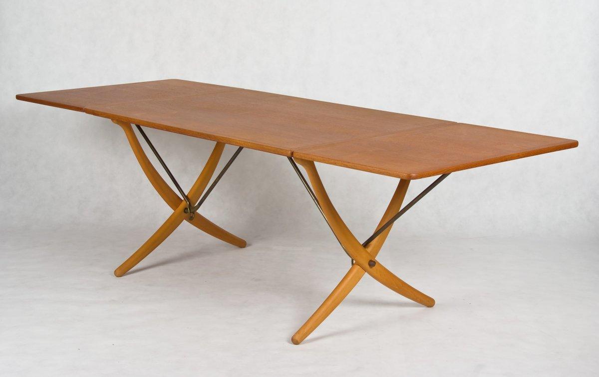 Hans J Wegner Designed Dining Table Model AT 304 Made By