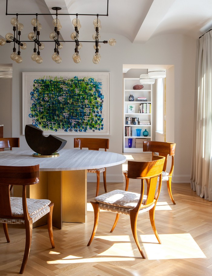Modern Apartment Revamped Art-Filled Modern Apartment in NY Historic Building new york apartment 7