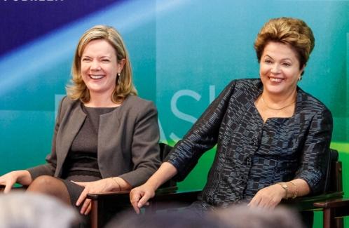 Gleisi, quem aumenta a luz é a Dilma