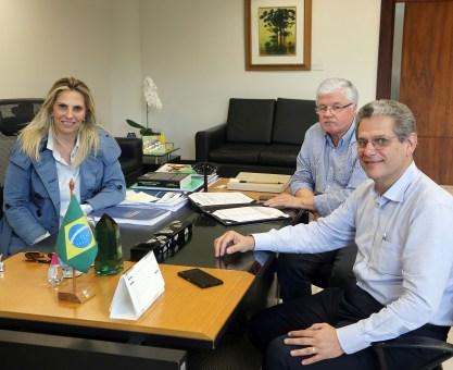 Cida reúne Silvio Barros e Rossoni