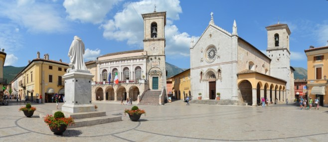 Piazza San Benedetto a Norcia (PG)
