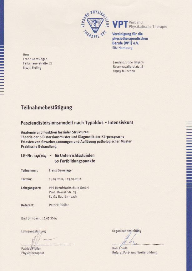 VPT - Zertifikat (19.07.2014)