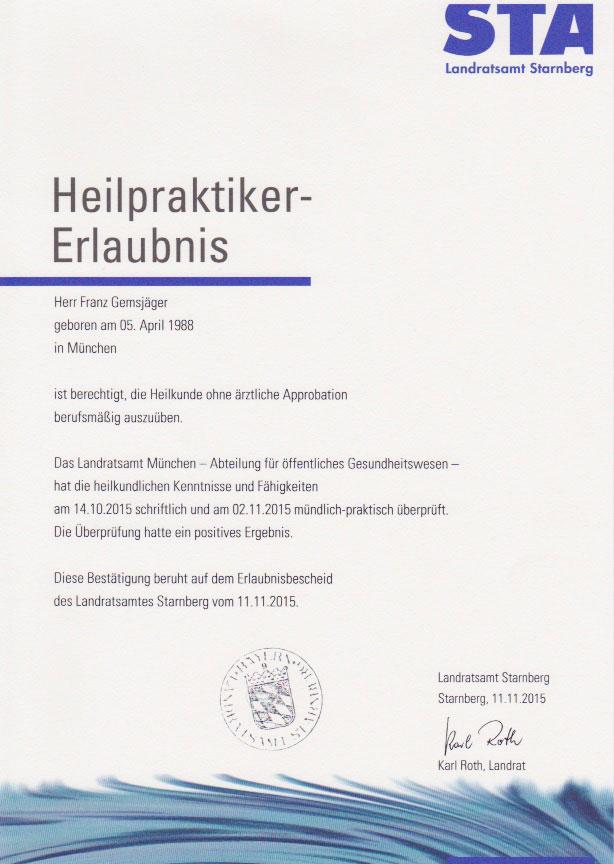 Landratsamt Starnberg - Heilpraktiker-Erlaubnis (11.11.2015)