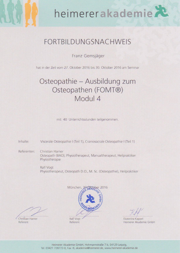 heimerer akademie - Zertifikat (30.10.2016)