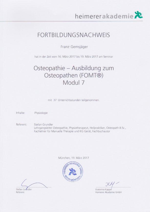 heimerer akademie - Zertifikat (19.03.2017)