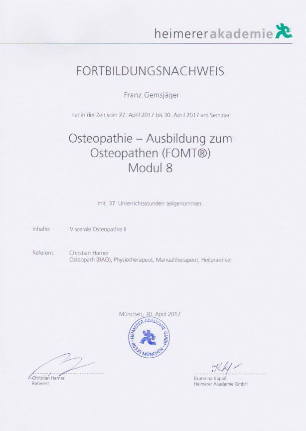 heimerer akademie - Zertifikat (30.04.2017)