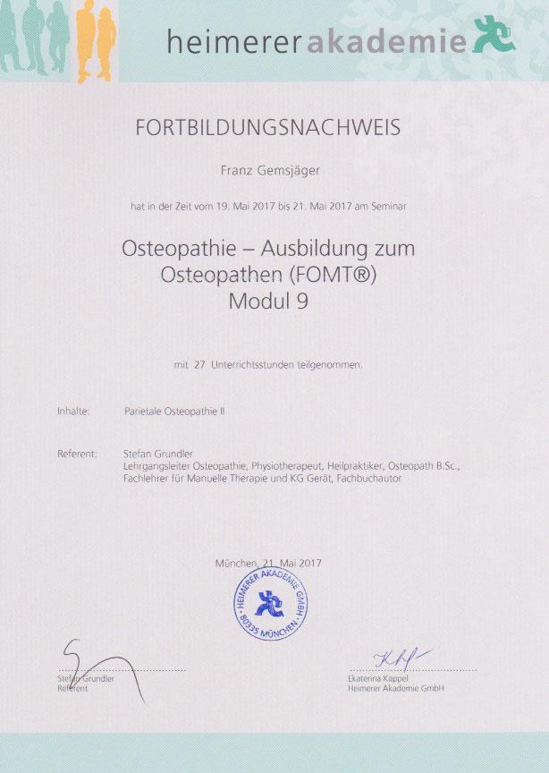 heimerer akademie - Zertifikat (21.05.2017)