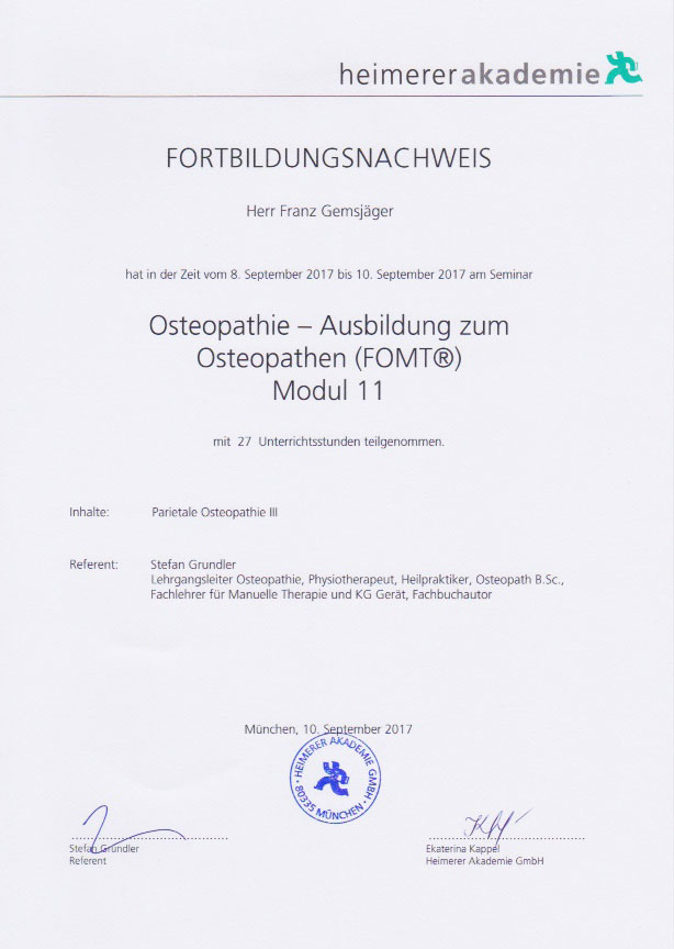 heimerer akademie - Zertifikat (10.09.2017)
