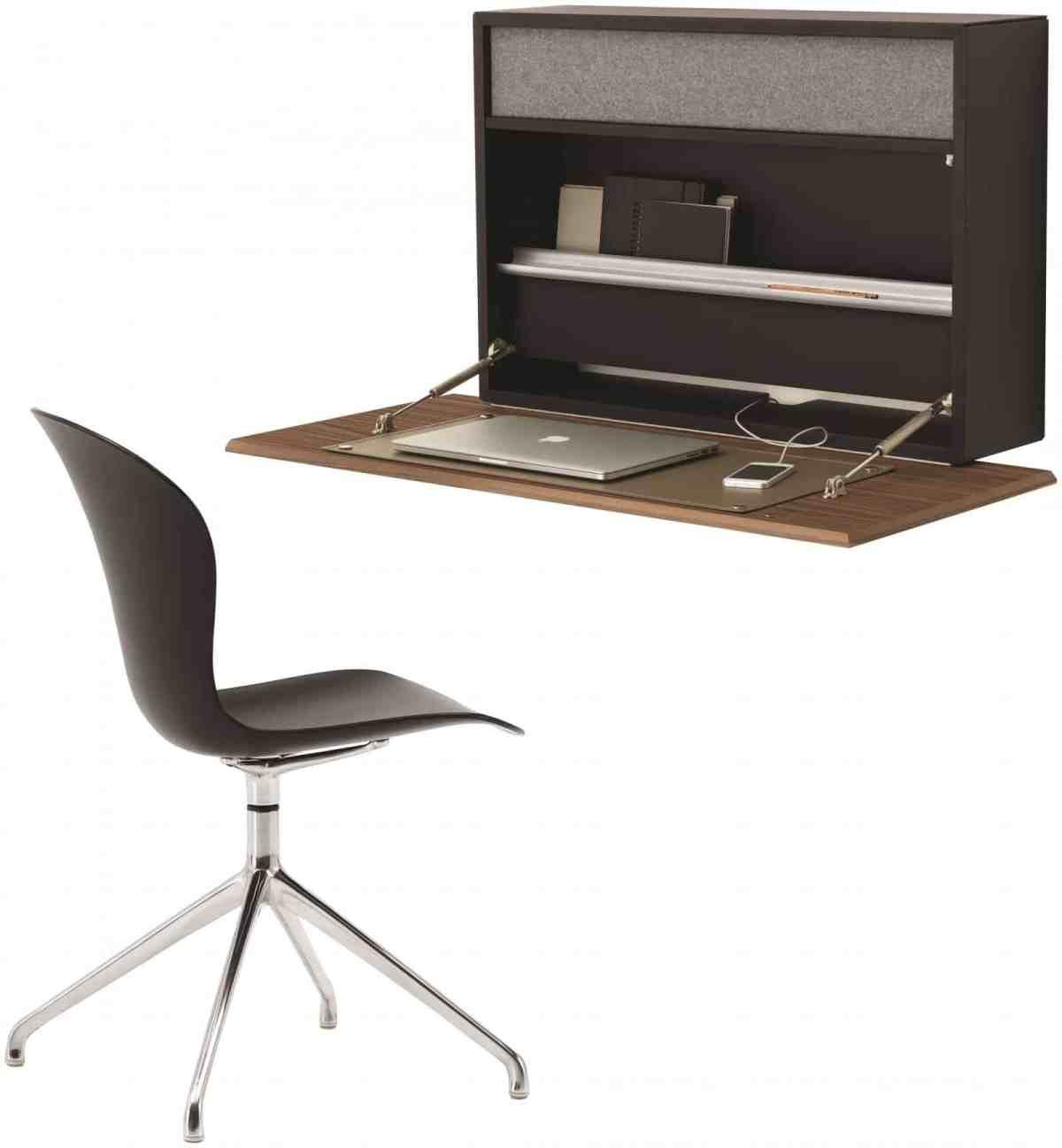 Cupertino Wall Office schwarz Eiche BoConcept - Cupertino Wall Office - Schreibtisch und Schrank in Einem