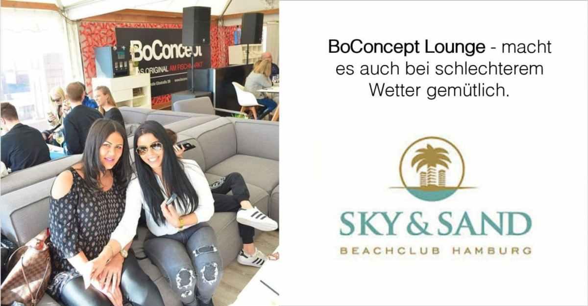 BoConcept experience Lounge sky and sand FB - Sky & Sand Beach-Club mit BoConcept   Saisonstart 14.4.19
