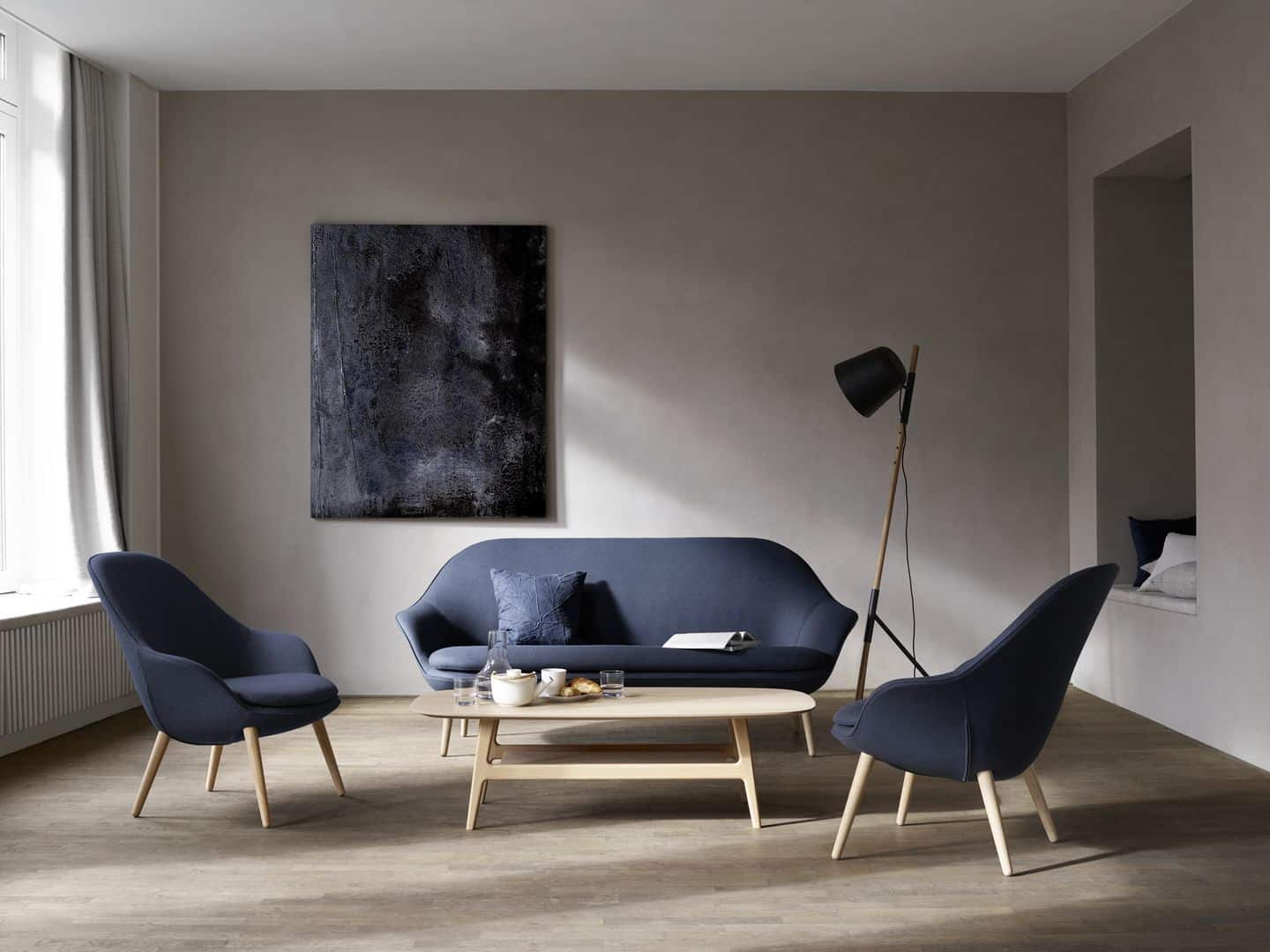 einrichtungsinspirationen in blau boconcept experience. Black Bedroom Furniture Sets. Home Design Ideas