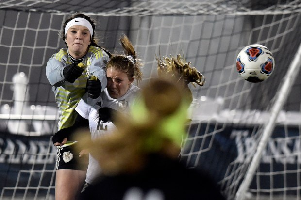 Jefferson Academy goalkeeper Brooklyn Kirkpatrick makes ...