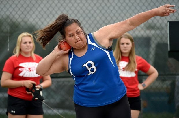 Broomfield High School's Joy Fifita throws ...