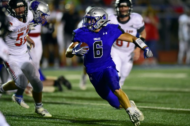 Broomfield High School's Caden Peters runs ...