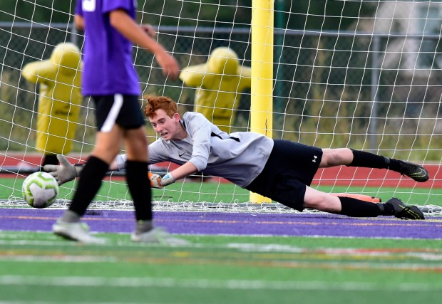 Holy Family High School goalkeeper Liam ...
