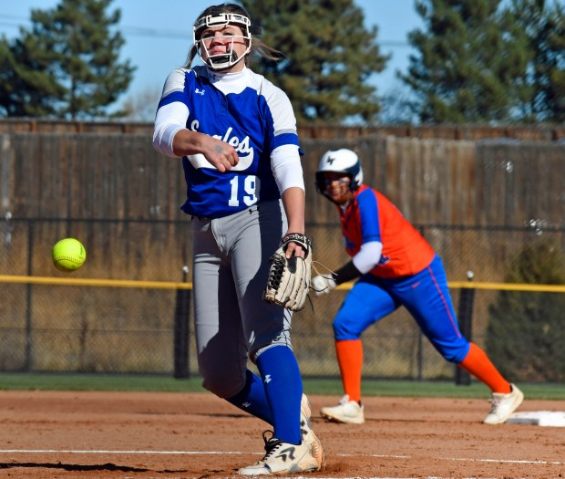 Broomfield pitcher Breana Fiala throws a ...