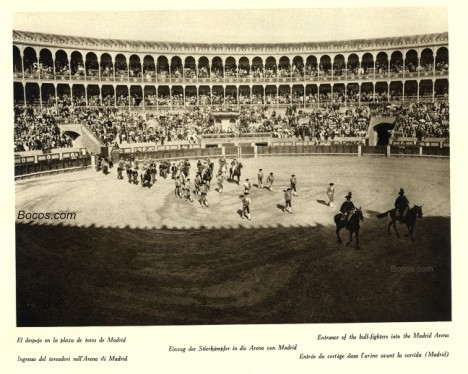 el despejo de la plaza de toros de Madrid