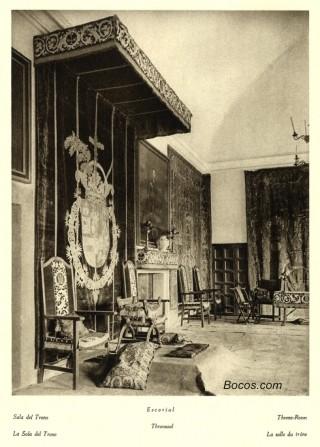 sala del trono de el Escorial