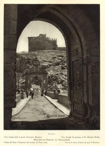 vista desde la puerta del puente Alcántara
