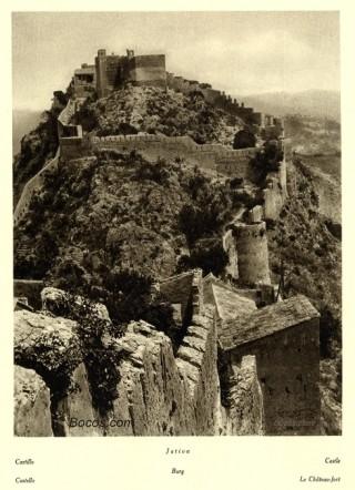 vista del castillo de Játiva