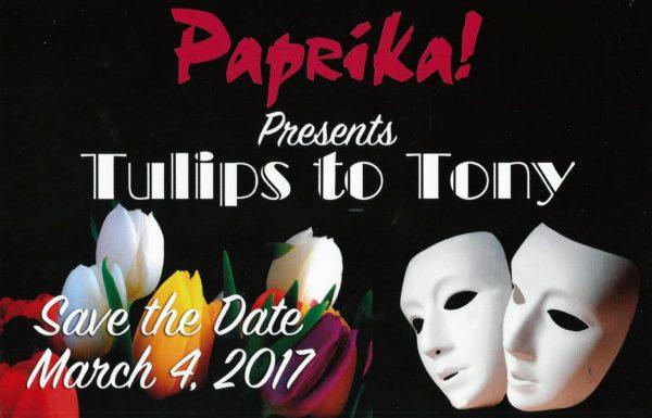 Paprika Benefit — Tulips to Tony @ Ritz-Carlton Hotel