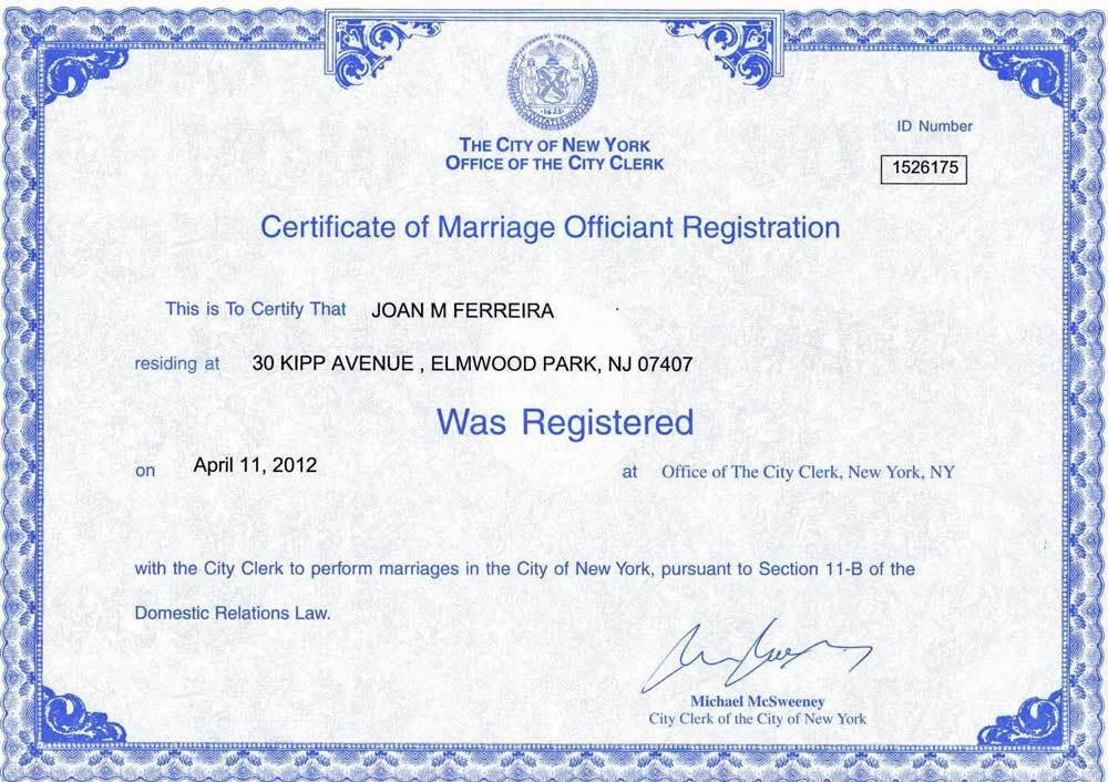 Vistoso Certificado De Matrimonio Ny Regalo - Cómo conseguir mi ...