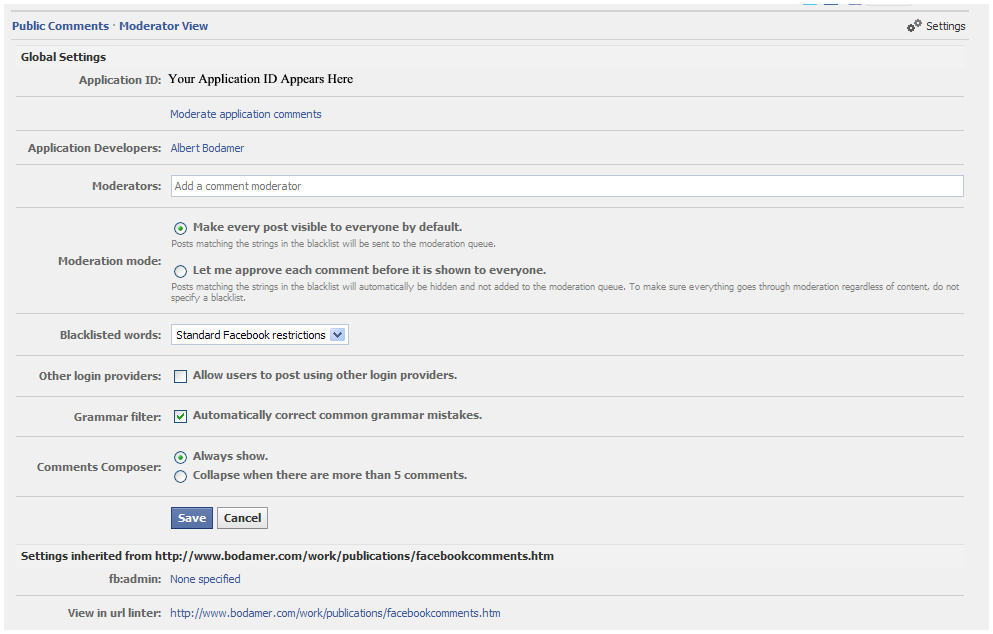 Facebook Comments Screen 5