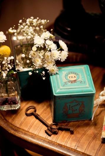 decoración vintage boda llaves antiguas