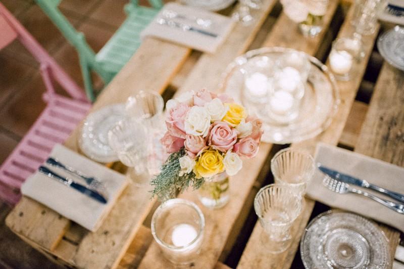 centro de mesa rústico www.bodasdecuento.com