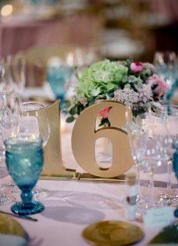 numero mesa dorado www.bodasdecuento.com