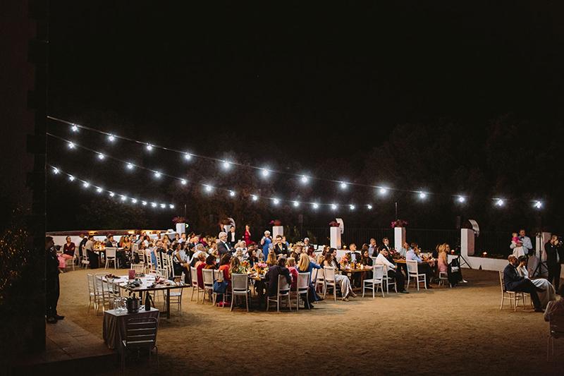 guirnaldas de luz boda www.bodasdecuento.com