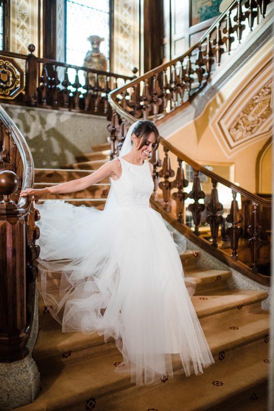 vestido novia santos costura www.bodasdecuento.com
