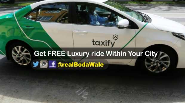 Get FREE Luxury Ride In Your Cities up to N2500 ~ BodaWale