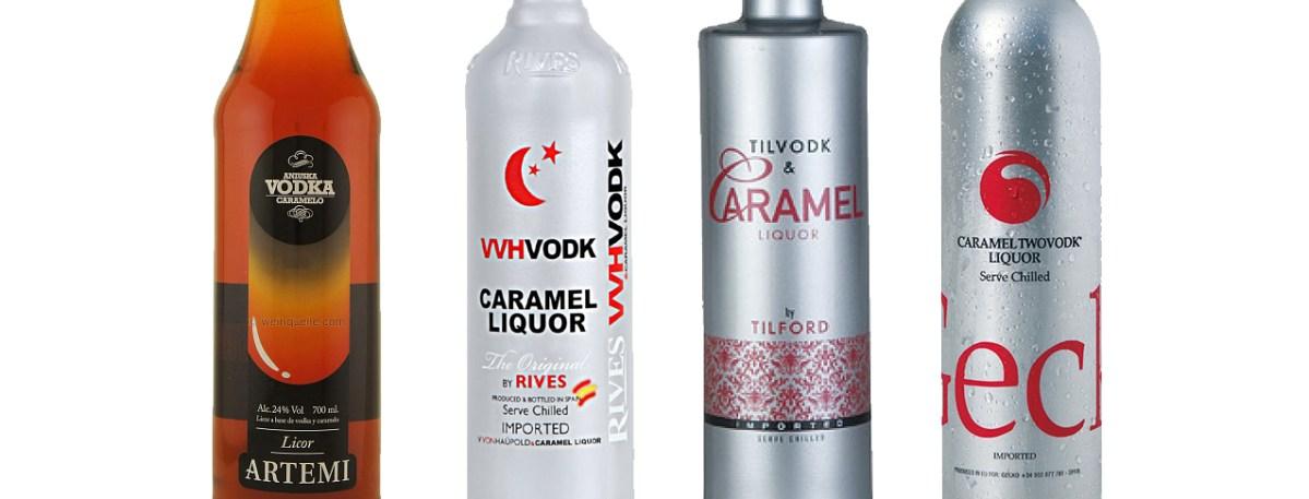 Licores de vodka y caramelo, el vodka más dulce