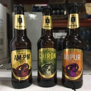 Cervezas Thornbridge Jaipir, Chiron, AM:PM