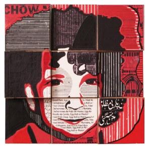 photo collage portrait of Pazi by Josh Goldstein