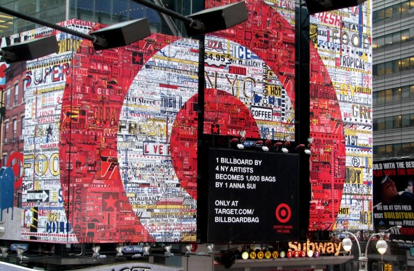 Josh Goldstein Target billboard in Times Square