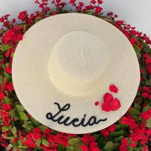 Pamelas personalizadas con flores