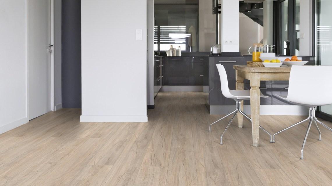 Gerflor Rigid Designboden Acoustic 55 Lock im Design Kilda Cashmere für Küche und Esszimmer