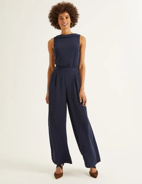 Navy Jumpsuit w/Pockets