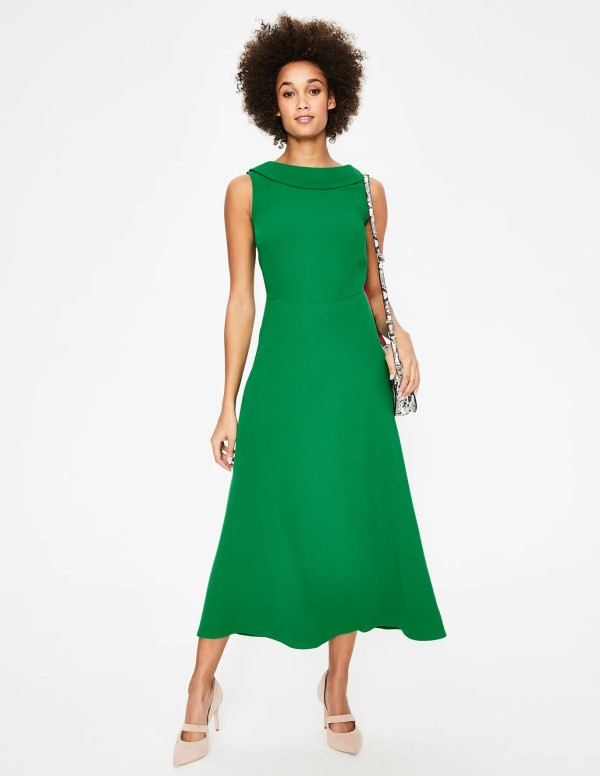 Clarissa Midi Dress - Highland Green