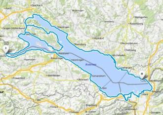 Bodensee-Radweg Karte