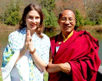 Maya and Lama Karma dedicate the merit.