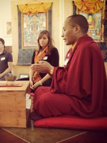 Lama Karma teaches parents meditation