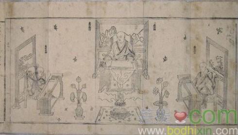 明代《玄奘譯經圖》中的玄奘像