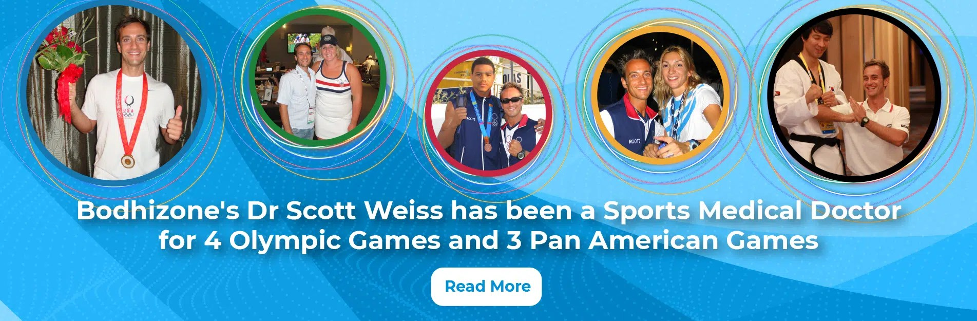 Bodhizone Physical Therapy NYC's Dr Scott Weiss at various Olympic Games