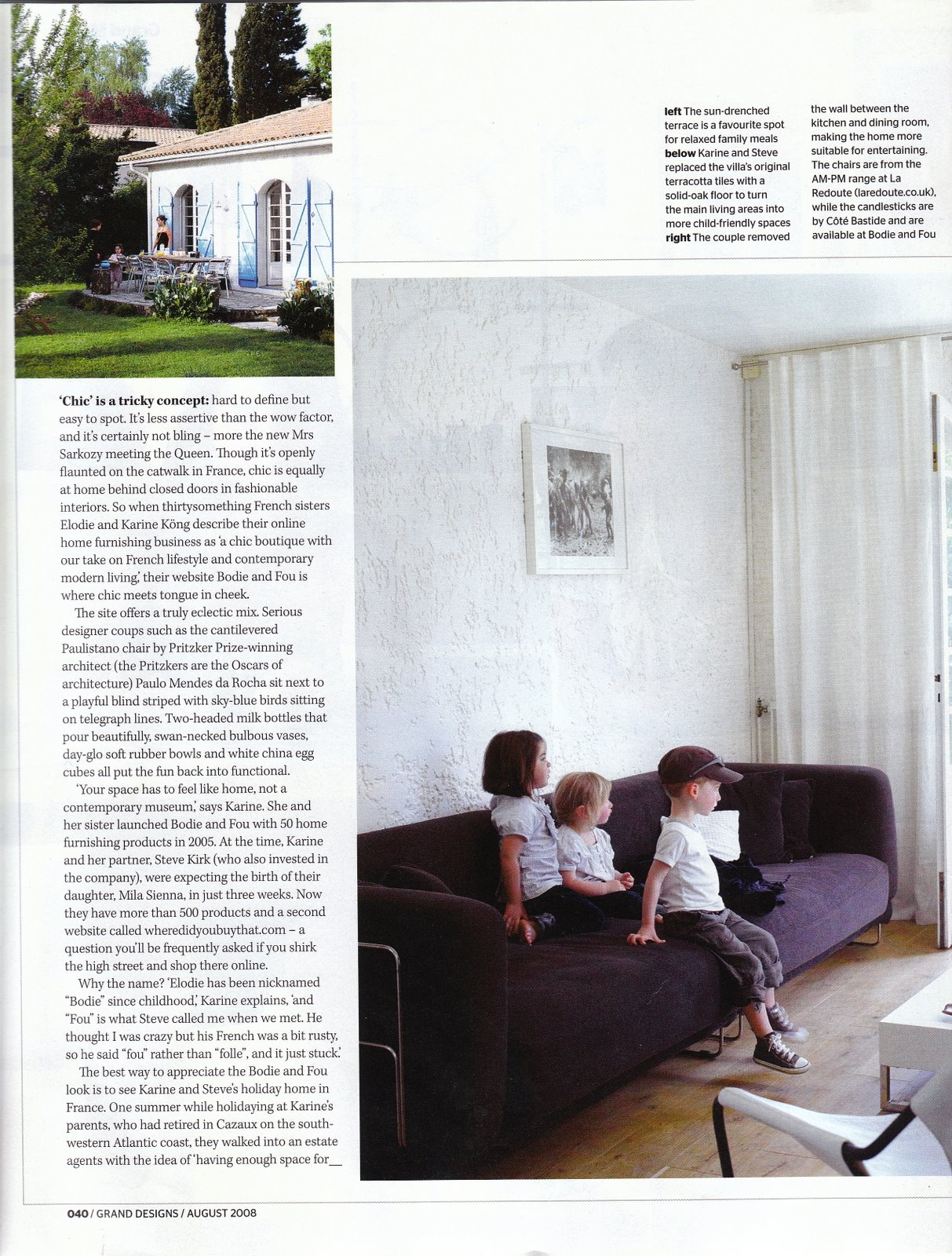Our French home in Grand Designs magazine